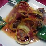 recette Pâtes italienne Lumaconi farcies à la viande.