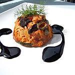 recette Flan de ratatouille au sirop  balsamique