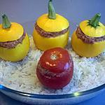 recette Courgettes et Tomate farcies kefta