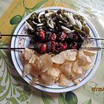 recette brochettes de boeuf et poivrons grillés