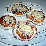recette Coquilles poulet/champignons