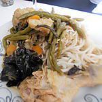 recette Wok de poulet au légumes et nouilles au thermomix
