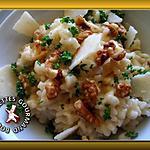 recette Risotto crémeux parmesan gorgonzola et noix