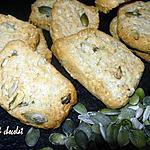 recette biscuits sablés croquants  au parmesan & ses  graines  de courges, tournesols  parfumés au romarin**