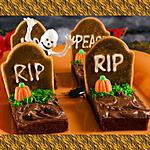 recette Brownies Halloween (Pierre tombale)