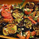 recette Salade d'aubergines grillées et tomates