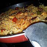 recette Poêlée de boulgour au poulet  poivrons et chorizo