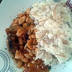 recette Haricot à la tomate et riz turc ( pilaf )