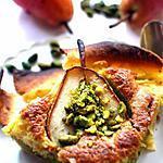 recette Tarte à la poire pamplemousse en crème de pistache