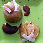 recette Aspics de Pommes et sa Sauce Caramel au Lait de Coco