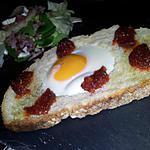 recette Bruschetta d'oeuf au chorizo