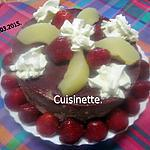 recette Vacherin aux poires et fraises.Chantilly.