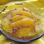 recette Suprême d'orange à la cannelle et spéculoos.