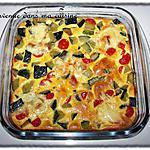 recette Clafoutis courgette & tomate cerise au saint nectaire