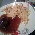 recette Boulette chasseur et frites maison