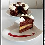 recette gâteau choco intense truffé framboise-apple curd
