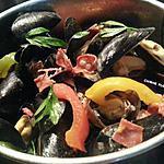 recette Moules à la provençale et chorizo.