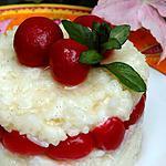 recette Riz au lait aux cerises