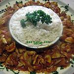 recette Blancs de calamar à la sauce tomates et curry.