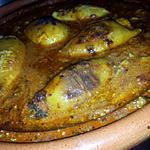 recette Tajine d'encornets farcis sauce à la rouille
