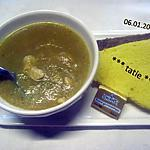 recette Soupe de légumes avec émincé de poulet.