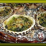 recette Coques au beurre d'escargot gratinées au parmesan