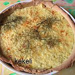 recette Tarte au saumon et riz