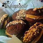 recette ~Biscuits sandwich double chocolat et au beurre d'arachides~