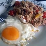 recette Quinoa aux crevettes et légumes