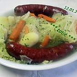 recette Soupe au chou.saucisses de Montbéliard.