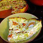 recette Tarte aux poireaux et aux saumon
