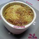 recette Petits clafoutis au jambon, persillade.