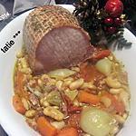 recette Rôti kassler aux haricots mogettes.
