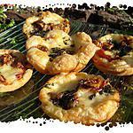 recette Ooo Bouchées au Comté, figues , jambon cru et basilic ooO