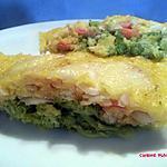 recette Clafoutis aux poissons, crevettes et brocoli