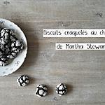 recette Biscuits craquelés au chocolat, de Martha Stewart