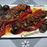 recette Poivrons rouges cornés farcis.