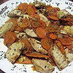 recette Carottes Vichy a la viande de dinde.