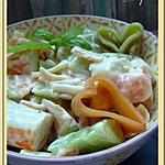 recette Salade de pâte saumon surimi concombre