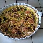 recette Quiche Poireaux - lardons - Chèvre.