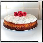 recette gâteau fondant de polenta au citron et sa chantilly coco sur palet au muesli coco fruit rouge