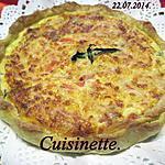 recette Quiche aux filets de truite. basilic.