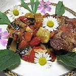 recette Tournedos de porc aux légumes du soleil.