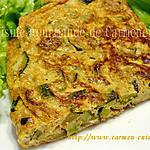 recette Frittata de courgettes et chorizo