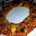 recette Pizza *soleil* au chorizo poivron et chévre