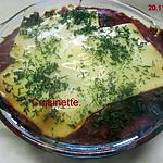 recette Hachis d'aubergine et poisson gratinées.