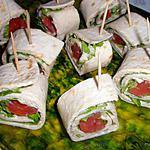 recette Wraps de poulet et guacamole