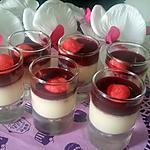 recette Panna cotta vanille coulis framboise-fraise Tagada ®
