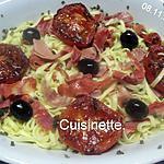 recette Pâtes Italienne et charcuteries.tomates.