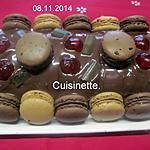 recette Roulé au chocolat et macarons.